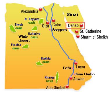 SinaiDahab - Map of egypt dahab