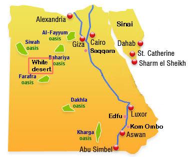 Western Desert - Map of egypt texas