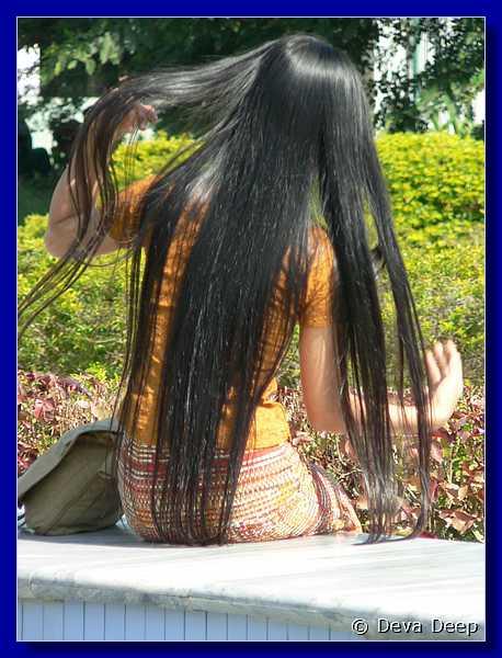 3840 20050102 1209-14 Bagan Girl long hair